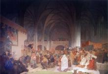 Проповедь Яна Гуса в Вифлеемской капелле