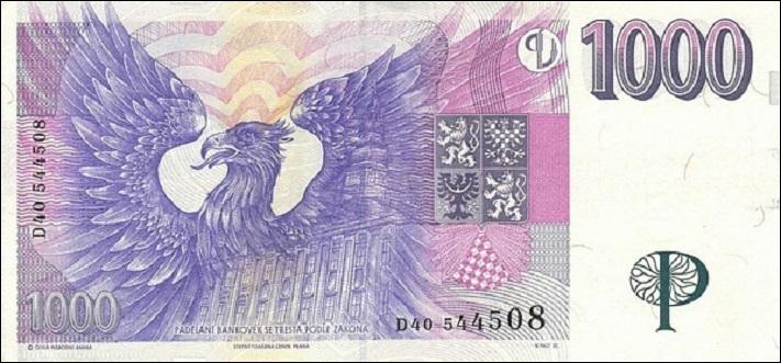 1000 чешских крон