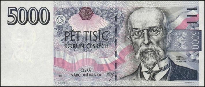 Пять тысяч чешских крон
