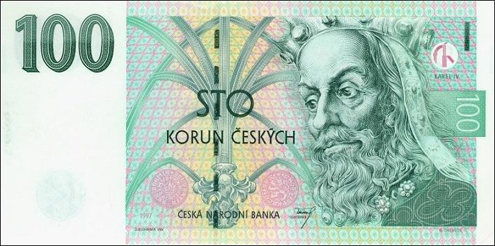 Сто чешских крон