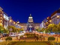 Вацлавская площадь в Праге Чехия