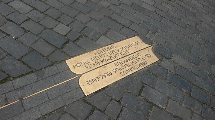 Пражский меридиан на площади