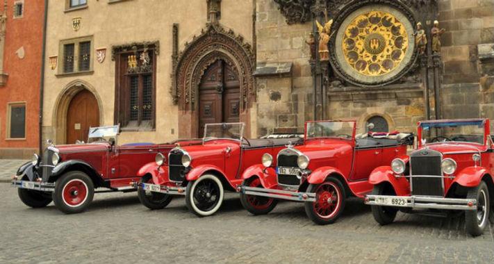 Ретро автомобили в Праге