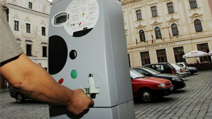 Паркомат в Праге