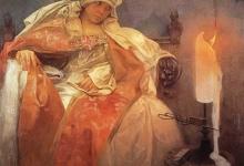 Женщина с горящей свечой, 1933