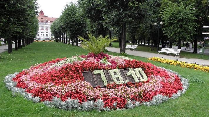 Сады Сметаны в Карловых Варах