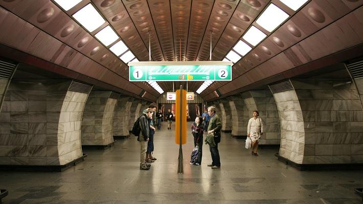 Станция метро в Праге