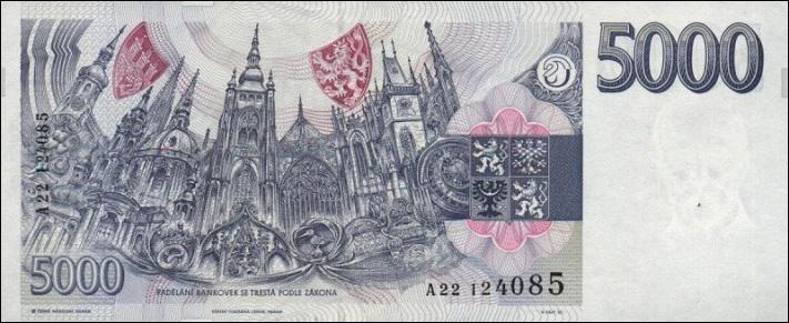 5000 чешских крон