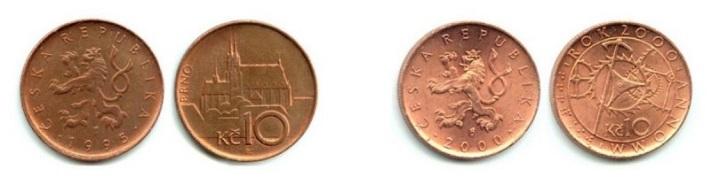 Десять чешских крон