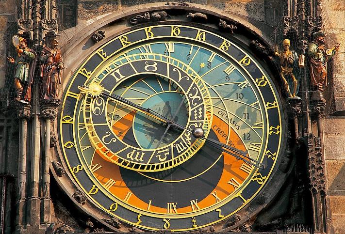 Астрономические часы в Праге на фото