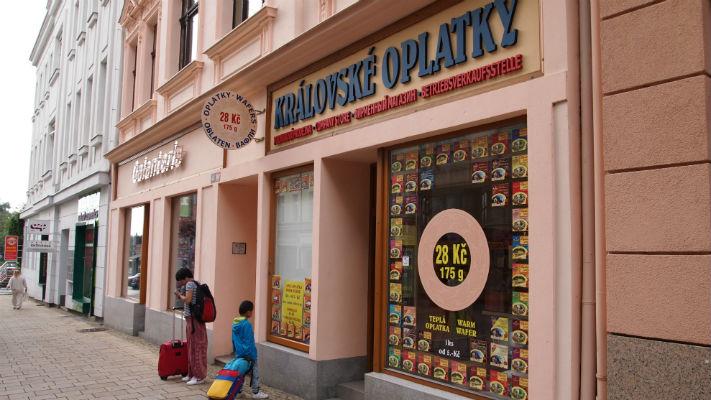 Магазин карловарских вафель