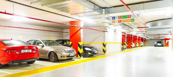 Подземный паркинг проката в Праге